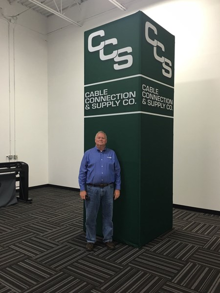 Tradeshow Tower Stand, 4x4x12 - additional sizes available