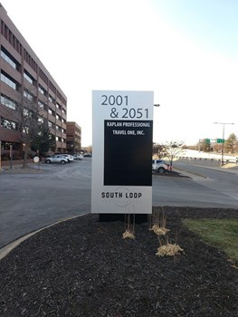 Monument sign for South Loop Office Park in Bloomington