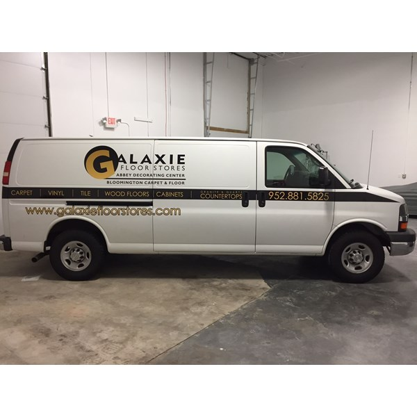 Galaxie Floor Stores Vehicle Graphics, Apple Valley MN