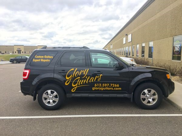 Vinyl Vehicle Graphics for Glory Guitar, Apple Valley MN, car wrap