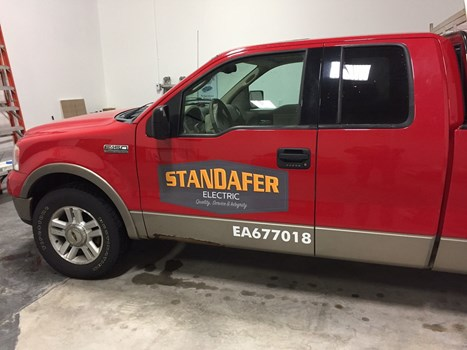 Standafer Electric vinyl truck graphics