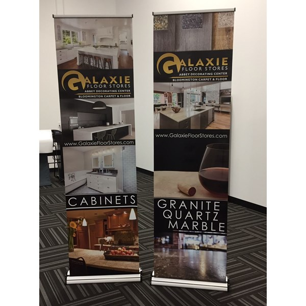 2 foot Retractor Banner Stands for Galaxie Flooring in Apple Valley MN
