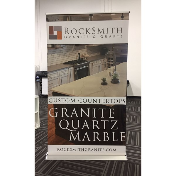 4 Retractor Banner Stand for RockSmith in Apple Valley MN