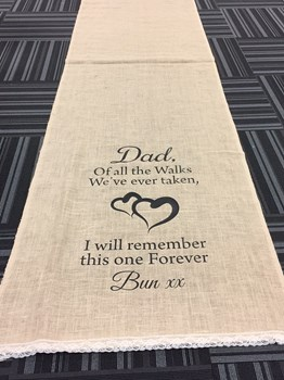 Wedding Isle Runner, Customized Floor Runner